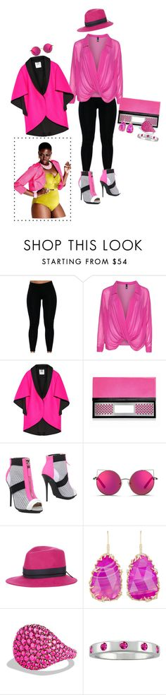 """""""Pink Lady has the day off"""" by blujay1126 ❤ liked on Polyvore featuring Manon Baptiste, Milly, Poupée Couture, gx by Gwen Stefani, Matthew Williamson, House of Lafayette, Kendra Scott, David Yurman, women's clothing and women"""