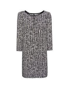 MANGO - Printed loose-fit tunic dress