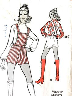 60s Misses' Shorts with Bib Top and Blouse McCall's by Fancywork