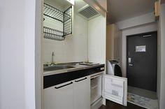 キッチンの様子。ミニ冷蔵庫付きです。(101号室)※モデルルームです。(id:81615,部屋)