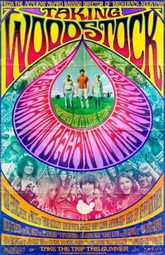 Taking Woodstock: The late psychedelic rock poster. Art by wteresa Woodstock Hippies, Woodstock Poster, Woodstock Music, Woodstock Concert, 1969 Woodstock, Taking Woodstock, Festival Woodstock, Rock Posters, Movie Posters