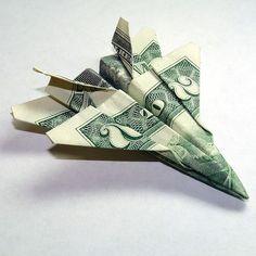 Airplane Money Origami  (preferably using $100 bills...)