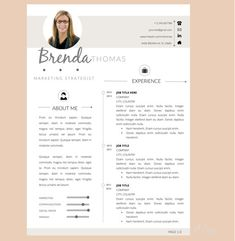 2page resume template cover letter for word