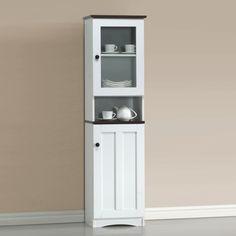 Baxton Studio China Cabinet in White & Dark Brown