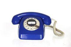 Blaues Vintage Telefon // blue vintage telephone by keep me in mind via DaWanda.com