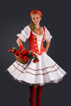 Traditional Hungarian dancer's costume from Edit.