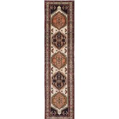 ECARPETGALLERY Ardabil Hand-Knotted Beige/Brown Area Rug