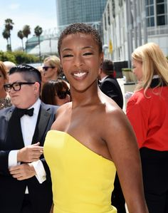 Samira Wiley looking incredible at the #2014PrimetimeEmmyAwards wearing the Garden Party #EarCuff #OrangeIsTheNewBlack #OITNB