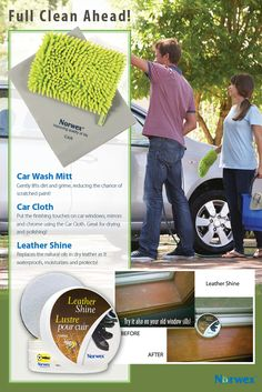 P R O B L E M : Getting your car clean and shiny without scratching can be a challenge. In addition, many of today's popular glass and window cleaners contain harmful chemicals. And using paper towels to clean just adds to the problem of overloaded landfills and deforestation. S O L U T I O N : The Norwex Car Products.