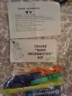 "DCL ""bare Necessities"" kit - Fish Extender gift idea"