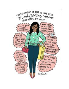 Imaginary Best Friend Conversations Print | Community Post: 20 Adorable Etsy Items All Mindy Kaling Fans Need In Their Lives