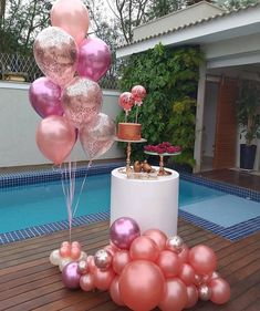 A little rosegold party 😍😍😍 How simple and beautiful is this? All products needed for this set up is available in our shop link in bio ☝️… Birthday Balloon Decorations, Balloon Decorations Party, Balloon Ideas, 40th Birthday Balloons, Wedding Balloons, Party Centerpieces, Instagram Birthday Party, Adult Party Themes, 18th Birthday Party