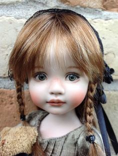 """Allison A 10"""" Porcelain Doll Made From A Mold BY Dianna Effner 