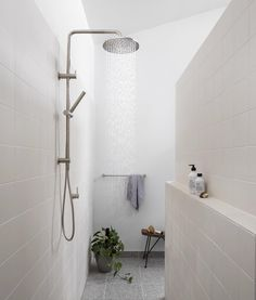 Who loves a walk in and out shower with no glass to clean?? I overheard the plumber fitting off say 'why would you need a shower head and a…