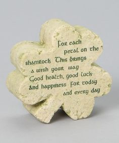 Love this Shamrock Plaque on #zulily! #zulilyfinds