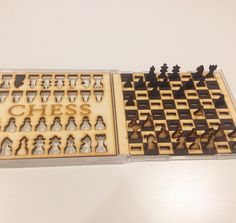 """46 Likes, 5 Comments - Hazelnut Laser Crafts (@hazelnut.laser.crafts) on Instagram: """"Waiting at the airport to go home from Venice playing with the prototype travel chess set I made…"""""""