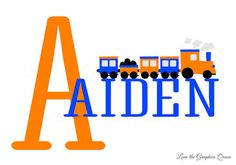 Train Wall Decal with Childs Name Railroad by LeenTheGraphicsQueen