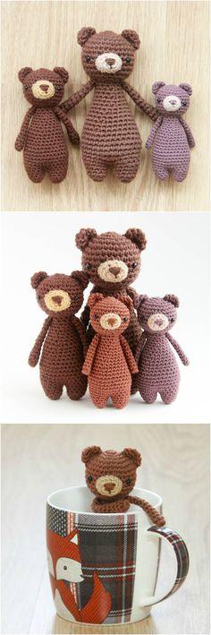 Mini Bear crochet pattern by Little Bear Crochets: www.littlebearcrochets.com ❤️ #littlebearcrochets #amigurumi