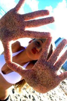 Sandy hands!