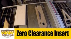 Zero Clearance Insert - Off the Cuff - Wacky Wood Works.