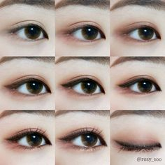 Korean makeup tips - A nightly use of moisturizing cream can prevent the skin ar. - Korean makeup tips – A nightly use of moisturizing cream can prevent the skin around your vision. Korean Makeup Look, Korean Makeup Tips, Asian Eye Makeup, Korean Makeup Tutorials, Eye Makeup Steps, Ulzzang Makeup Tutorial, Makeup Tutorial Step By Step, Makeup Tutorial For Beginners, Simple Eyeliner Tutorial