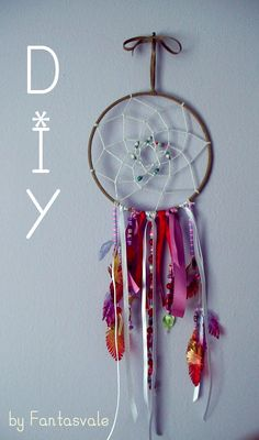 Tutorial How to make a DIY Dreamcatcher with recycled materials by Fantasvale Dreamcatcher Tutorial, Dreamcatchers, Recycled Materials, Mobiles, Recycling, Tutorials, Youtube, How To Make, Diy
