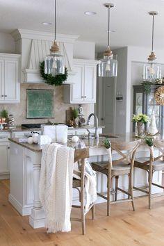 Elegant Rustic French Farmhouse Kitchen