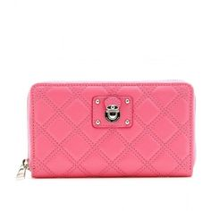 ed4a702bcd20 Marc Jacobs Hudson Quilted Leather Wallet With Push-Lock ( 557) found on  Polyvore