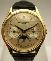 Patek Philippe 3940 Perpetual Calendar    Year : N.D.  Description : Like new. A very complete kit and official guarantee Patek Philippe still dating (Italian dealer)  Selling price : 30.000 €  List price :   Movement : Self winding  Case : Yellow Gold  Case number : N.D.  Dimensions : 36 mm  Dial : Argentè  Bracelet : Strap  Clasp : Ardiglione  Reference : 3940j  Type : Used  Condition : Exceptional - Extra (Corresponding to the new, with box and paper in course of validity)