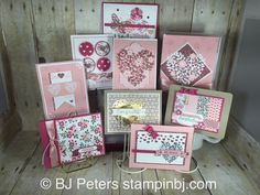 Lovin' the Love Blossoms product suite!  Check out these beautiful 8 cards in a box!  You'll want to make them!  Check out my class in the mail - it's been VERY popular! #stampinbj
