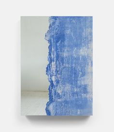 Drift (pale blue, cream) (2015) 48 x 66 in., Sand and mirror