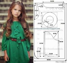 Trendy sewing patterns for baby clothes outfit ideas Baby Dress Patterns, Baby Clothes Patterns, Sewing Patterns For Kids, Clothing Patterns, Frock Patterns, Fashion Kids, Old Dress, Little Girl Dresses, Girls Dresses