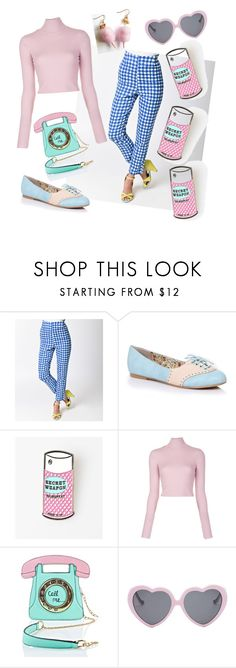 """candy cute"" by shelley-scott ❤ liked on Polyvore featuring Collectif, Oxford, A.L.C., 3 AM Imports and Vans"