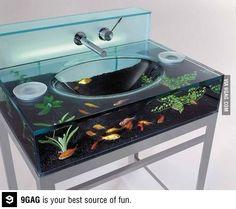 I wish my bathroom sink looked like that