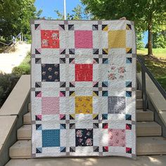 Focus Quilt | Fabric: Idyllic by Minki Kim for Riley Blake Designs