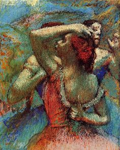 Dancers, 1900 by Edgar Degas. Impressionism. genre painting. Princeton University Art Museum (USA