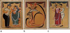 24-Hour Auction: Indian Folk & Tribal Art & Objects - A Set of Kalighat Paintings by Anwar Chitrakar