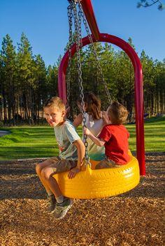 Fun in Forest Ridge Park in Eagle Ridge