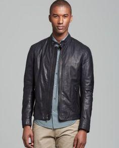Vince Lightweight Leather Moto Jacket   Bloomingdale's