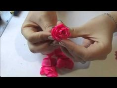 Красивые Розы на Шпильке для Волос Своими Руками /Ribbon Flower / DIY Kanzashi - YouTube
