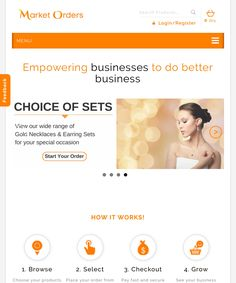 MarketOrders is a revolutionary B4B (Business-for-Business) platform providing independent jewellery retailers with a cheaper and better way to buy gold jewellery products & services through a disruptive eCommerce marketplace where orders are aggregated and sent to the manufacturer to secure bulk discount savings.  #MarketOrders #B4B #Business4Business #Online #Platform #GoldJewellery #Business #Cheaper #BetterWay #Gold #Jewellery #Products #Services #eCommerce