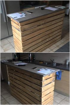 This mind blowing wood pallet is designed in the styling form of the pallet kitchen table that is much simple within the designing for your kitchen area. This kitchen table has been all set as it is comprised with the drawers too. You would simply love adding it in your kitchen areas.