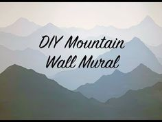 So will ich wohnen How to Paint a Mountain Mural on your Bedroom or Nursery Wall Mountain Mural, Mountain Nursery, Mountain Paintings, Mountain Bedroom, Mountain Decor, Nursery Wall Murals, Bedroom Murals, Bedroom Wall, Painted Wall Murals