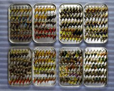 I can't see a single Wooly Bugger.  Those of us with OCD would re-organize those fly boxes by target species... in alphabetic, Latin name order.