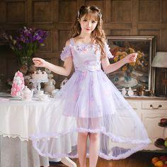 >> Click to Buy << Princess sweet lolita dress Candy rain Japanese style summer Condole belt chiffon princess refreshing Net yarn dress  C22AB6104 #Affiliate