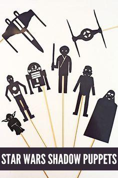 FREE Star Wars Shadow Puppets | Homeschool Giveaways