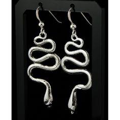 Серьги из серебра 925 пробы в виде змеи, длинные