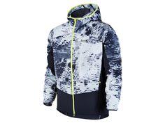 ナイキ プリンテッド トレイル カイガー フルジップ メンズ ランニングジャケット