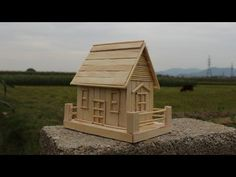 How to make a popsicle stick house - Simple Tutorial - YouTube