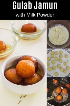 Milk powder gulab jamun recipe - These are soft, juicy, melt in your mouth kind with perfect sweetness and richness.  This gulab jamun is usually made on festive or special occasions. Many times you will find this into wedding functions menu. Milk Powder Gulab Jamun Recipe, Clarified Butter Ghee, Indian Desserts, Melt In Your Mouth, Powdered Milk, Something Sweet, Spice Things Up, Festive, Special Occasion